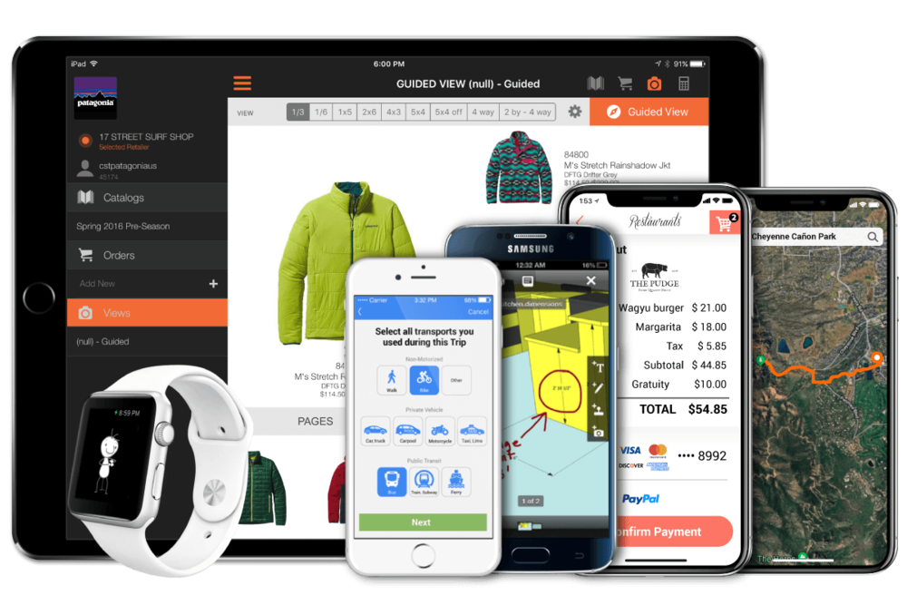 iOS and Android mobile apps for Patagonia b2b, OMM, SmartSurveys, and more.