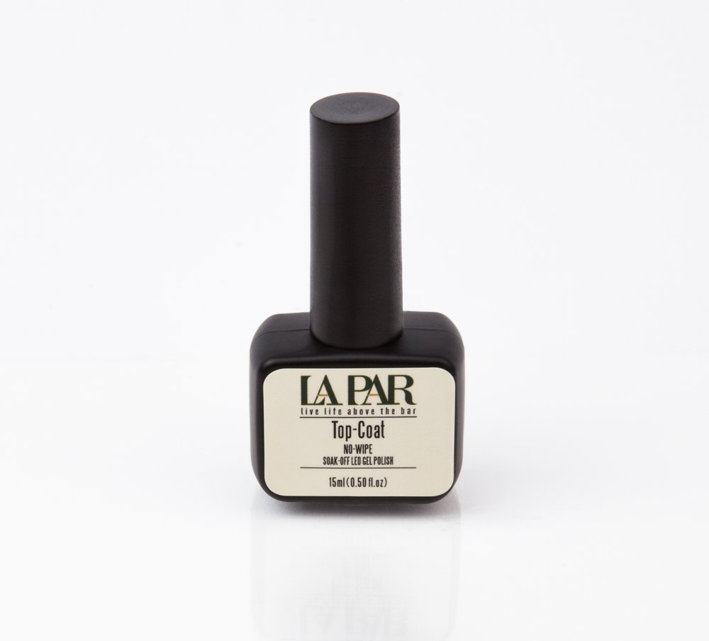 TOP-COAT - Finish off with La Par's Top Coat, ensuring a glossy and protective layer.