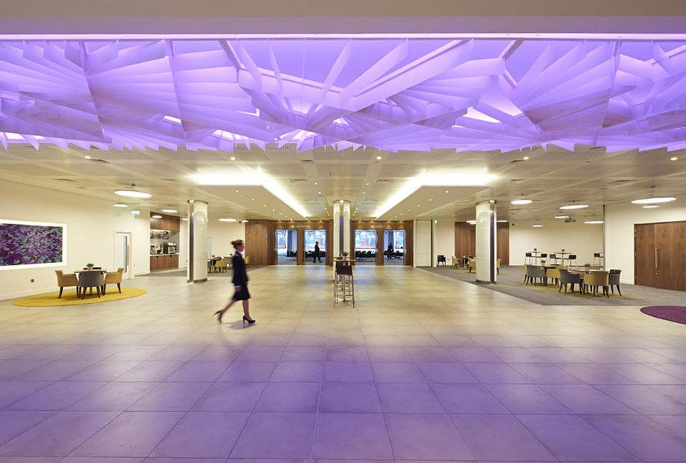 Inside the main conference area at 155 Bishopsgate