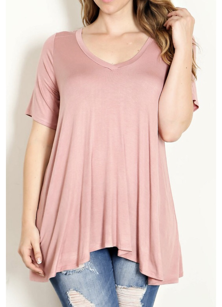 Plus Size Pink Tunic