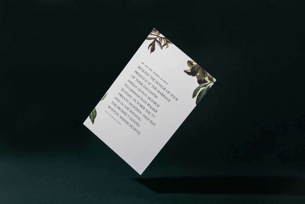 A modern paper company simplifying wedding ephemera. -
