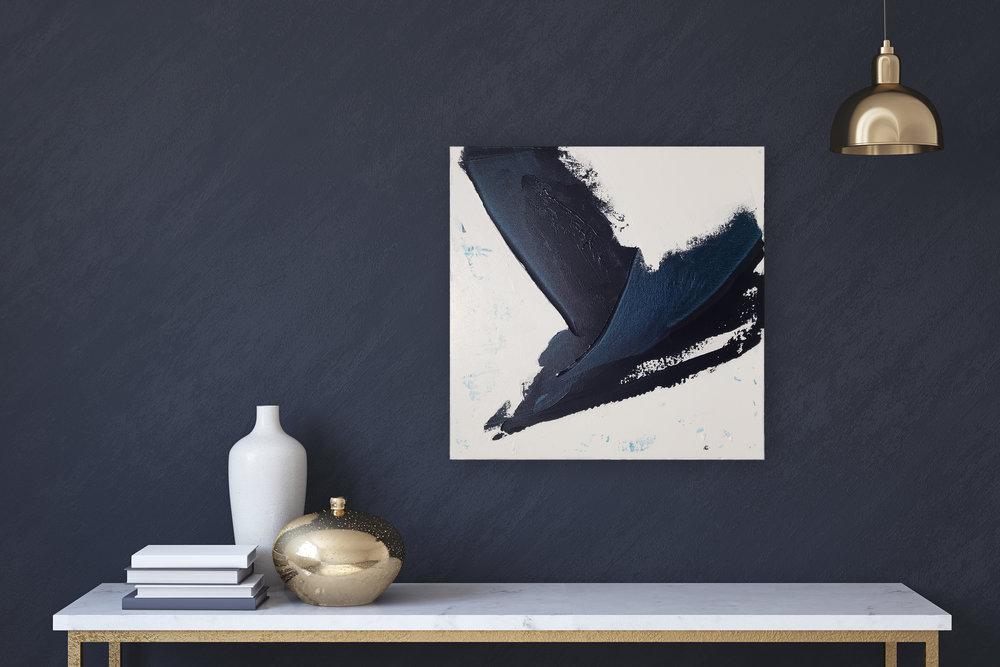 "Gust. $200. 20x20"". Acrylic on Canvas."