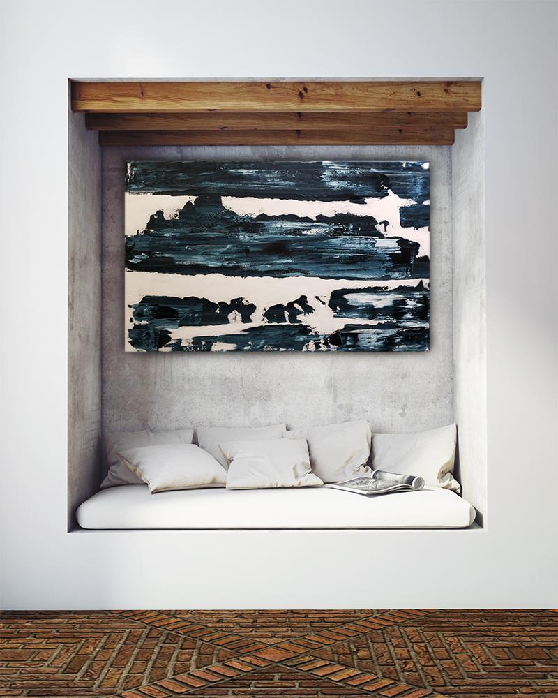 "Smear. $400. 38x48"". Acrylic on Stretched Canvas."