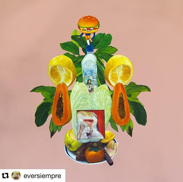 "#Repost @eversiempre with @get_repost ・・・ ""Mother"" oil and acrylic on canvas 30x30 inch 2018. This piece will be part of ""Empathy/a"" the 9th of June at @thediogenesclubla in #losangeles #LA #diogenesclub"
