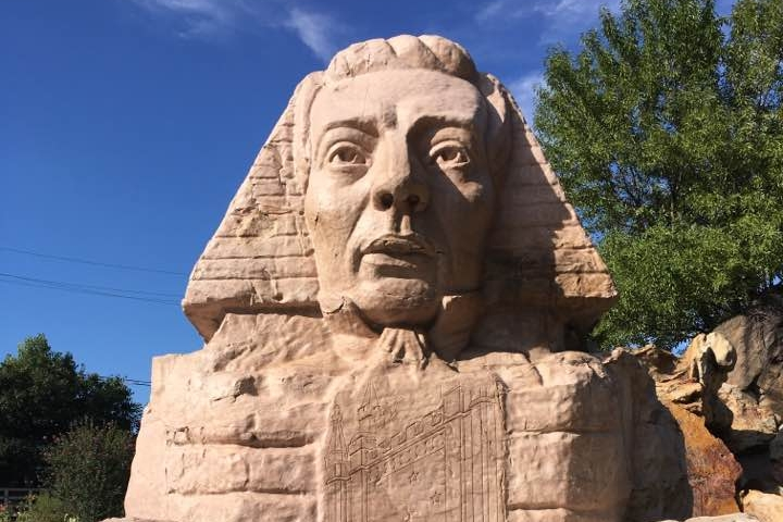 One of my favorite places in Utah: the sphinx sculpted to look like Joseph Smith.