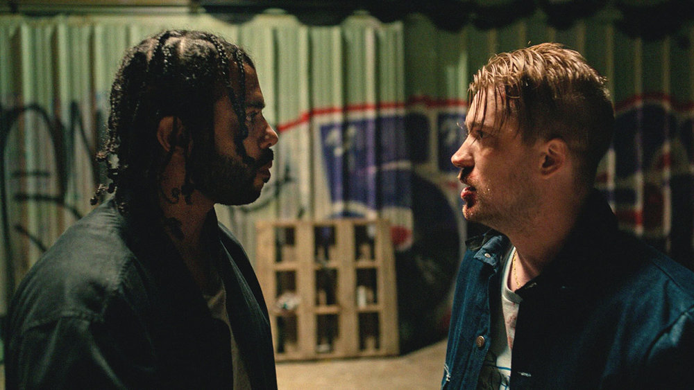 "Daveed Diggs (left) and Rafael Casal in ""Blindspotting,"" directed by Carlos López Estrada. Photo courtesy of Sundance Institute."