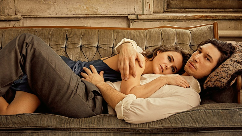 Keri Russell and Adam Driver star in  Burn This.  Photo:  Danielle Levitt .