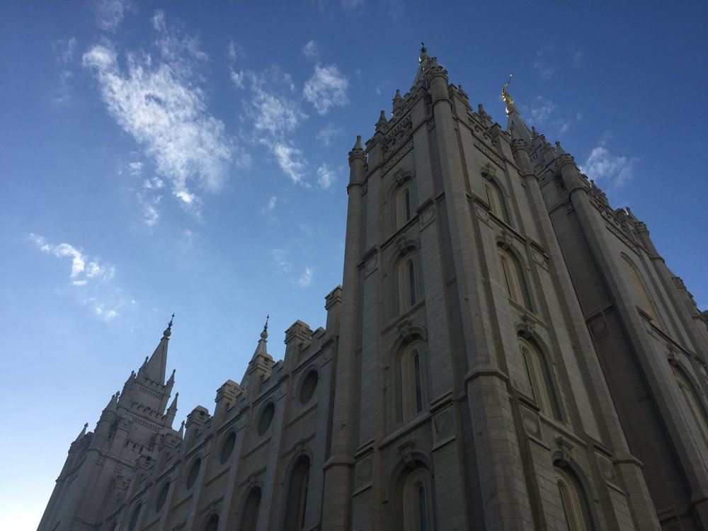 I took this photo of the Salt Lake Temple in 2018 while reporting for my podcast  Mosaic.