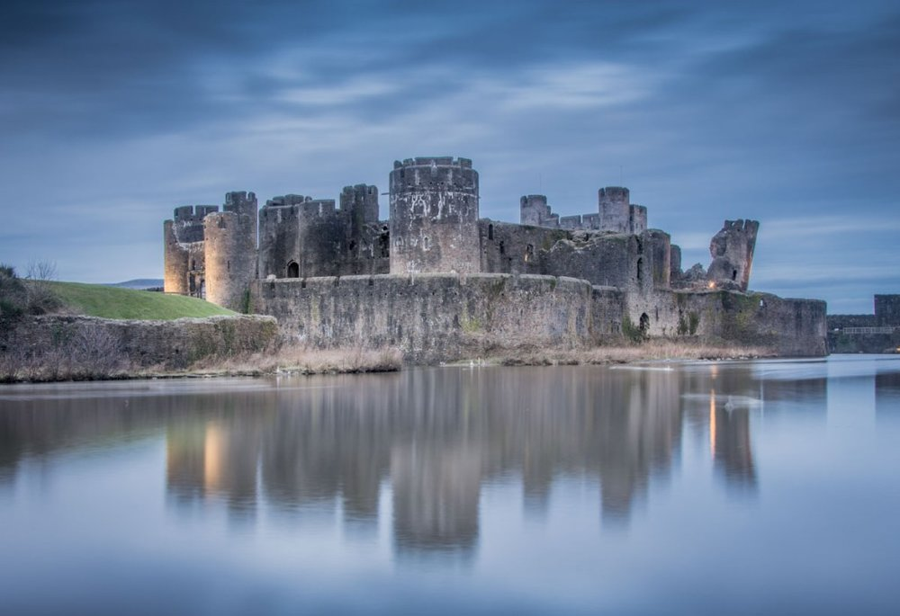 November — Caerphilly Castle — Georgina Harper