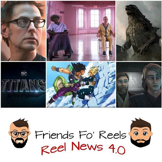 A lot of stories to go over this week! The latest episode of Reel News is up! Be sure to check out Reel News Every Saturday for your latest news in the movie biz! Make sure you subscribe, rate, and review the @friendsforeels podcast so you don't miss out on any story! ***LINK IS IN THE DESCRIPTION*** #friendsforeels #sdcc #sdcc2018 #sandiego #dragonballsuper #goku #broly #starwars #disney #guardiansofthegalaxy #mcu #marvel #glass #clonewars #godzilla #milliebobbybrown #vegeta #titans #dc #dccomics #marvelcomics #kingofmonsters #obiwankenobi #anakinskywalker