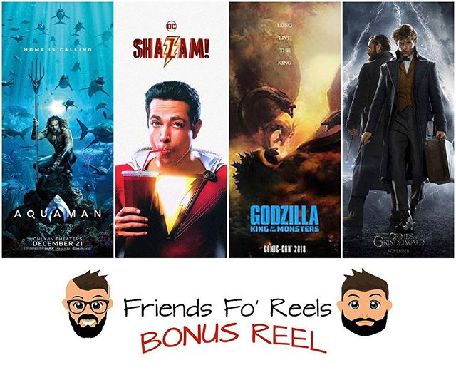 We have a special episode for you Reel Friends! We talked about what happened at #SDCC Make sure you subscribe, rate, and review the @friendsforeels podcast so you don't miss out on any story! ***LINK IS IN THE DESCRIPTION*** #sdcc2018 #shazam #shazammovie #fantasticbeasts #godzilla #aquaman #friendsforeels #podcast #subscribe #dc #dccomics #dcuniverse #kingofmonsters #harrypotter