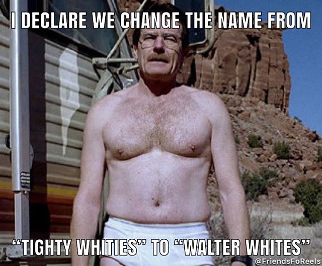 Why isn't Walter White the poster boy of Calvin Klein? #breakingbad #walterwhite #heisenberg #amc #tightywhities #calvinklein
