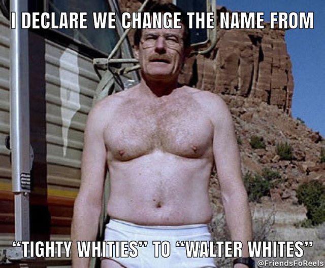 Why isn't Walter White the poster boy of Calvin Klein? #breakingbad #walterwhite #heisenberg #amc #tightywhities #calvinklein