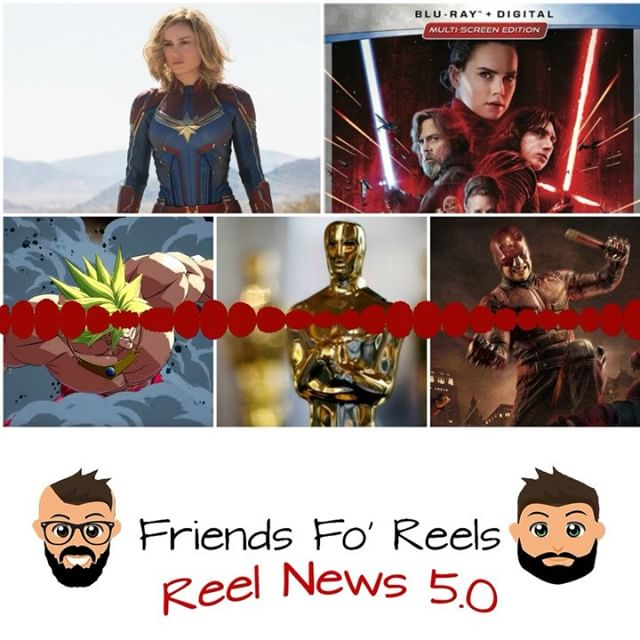 We're Back!!!! The latest episode of Reel News is up! Be sure to check out Reel News Every Saturday for your latest news in the movie biz! Make sure you subscribe, rate, and review the @friendsforeels podcast so you don't miss out on any story! ***LINK IS IN THE DESCRIPTION*** #friendsforeels #podcast #movienews #breakingnews #subscribe #captainmarvel #brielarson #marvel #mcu #infinitywar #starwars #thelastjedi #blackpanther #oscars #thorragnarok #supersmashbros #broly #nintendo #dragonballz #goku #daredevil #mattmurdock #jessicajones #ironfist #lukecage #netflix #thedefenders #theavengers #dc #comics