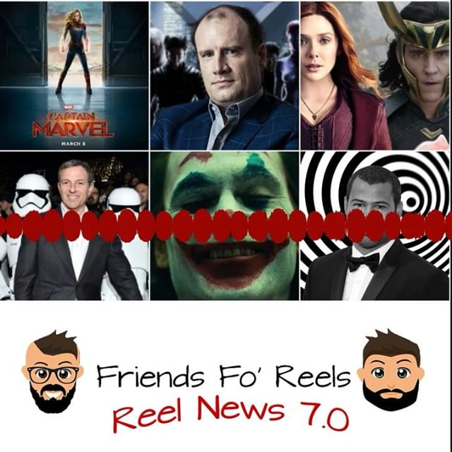The latest episode of Reel News is up! Make sure you subscribe, rate, and review the @friendsforeels podcast so you don't miss out on any story! ***LINK IS IN THE DESCRIPTION*** #friendsforeels #podcast #subscribe #joker #twilightzone #getout #jordanpeele #captainmarvel #marvel #dc #xmen #scarletwitch #loki #starwars #darthvader #lukeskywalker #batman #wolverine