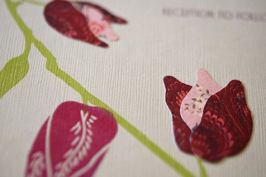 Climbing Bougainvillea Invitation Set from Pip's Paperie
