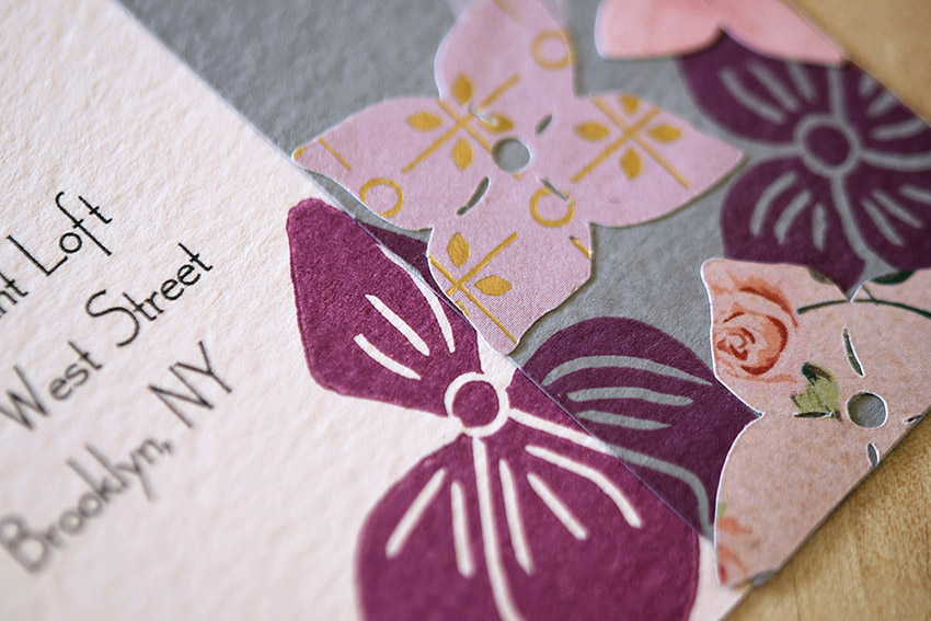 Nestled Hydrangeas Invitation Set from Pip's Paperie
