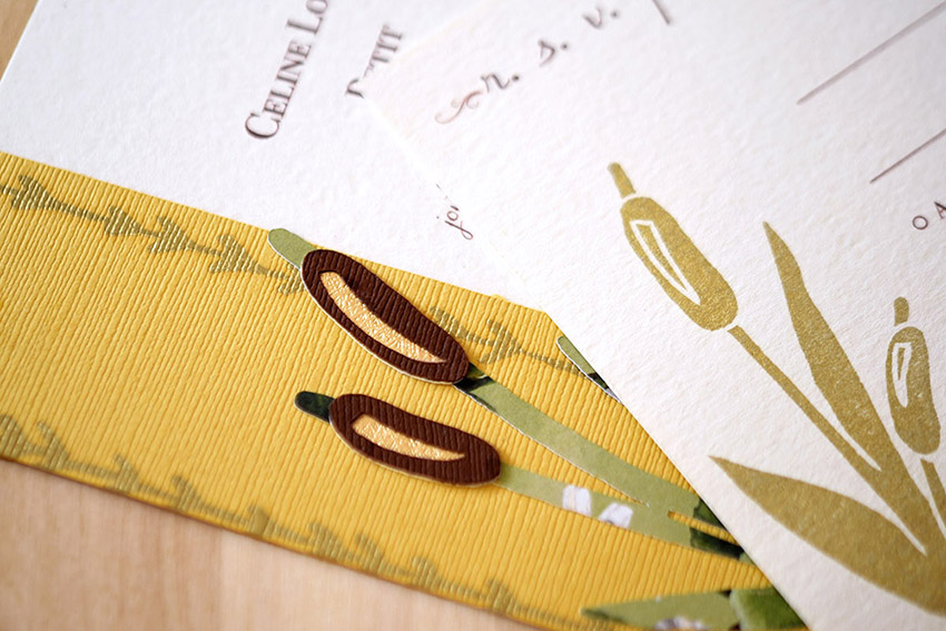 Rustling Reeds Invitation Set from Pip's Paperie