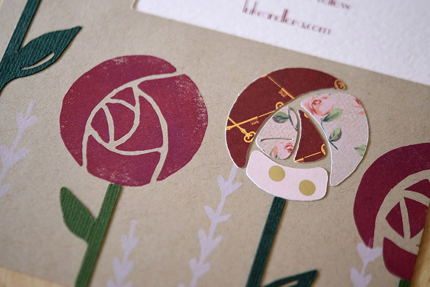 Charmed Rose Invitation Set from Pip's Paperie