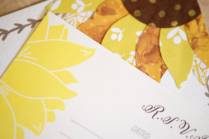 Happy Happy Sunflower Invitation Set from Pip's Paperie