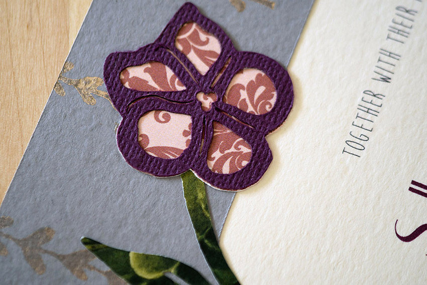Curling Violets Invitation Set from Pip's Paperie