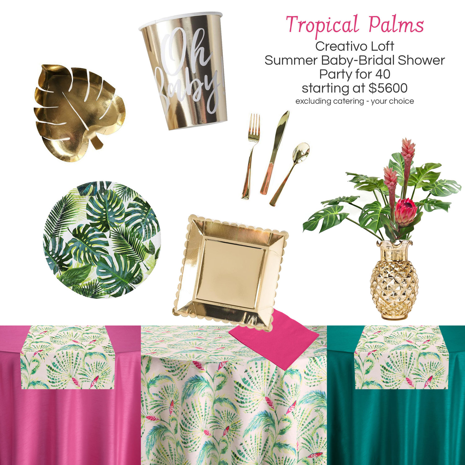 special package tropical palms summer shower creativo loft