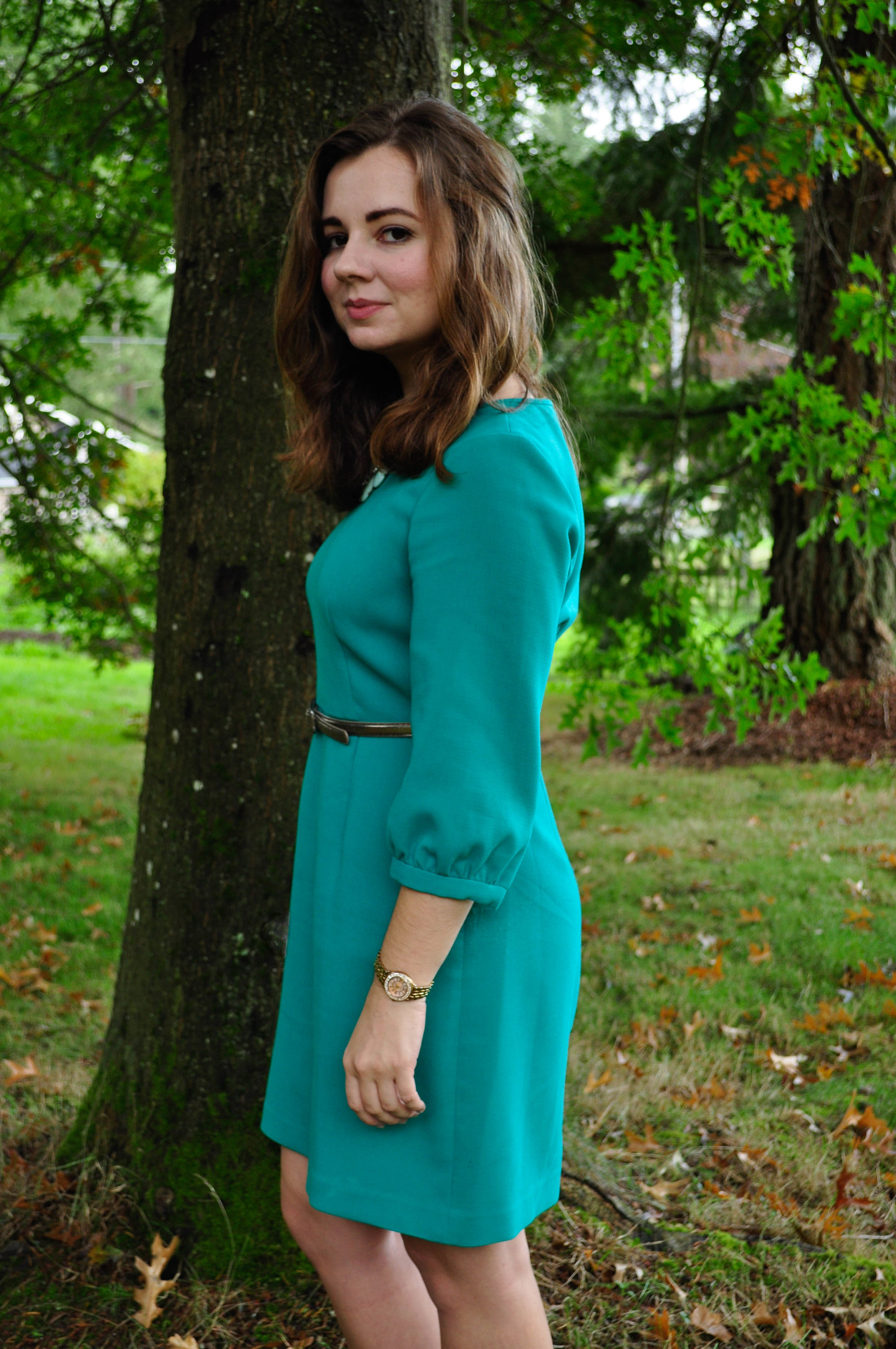 The favorite green dress