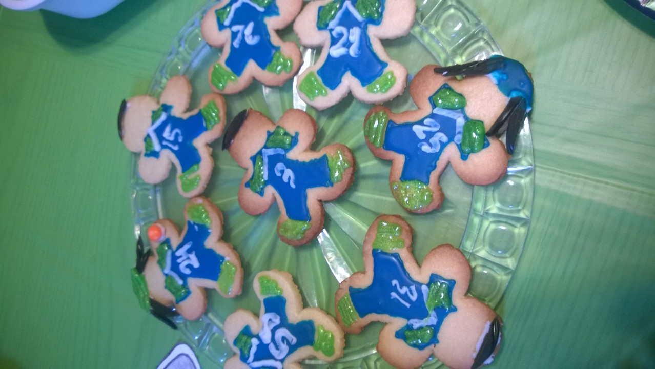 Northwest Pearls: Seahawks Player Cookies