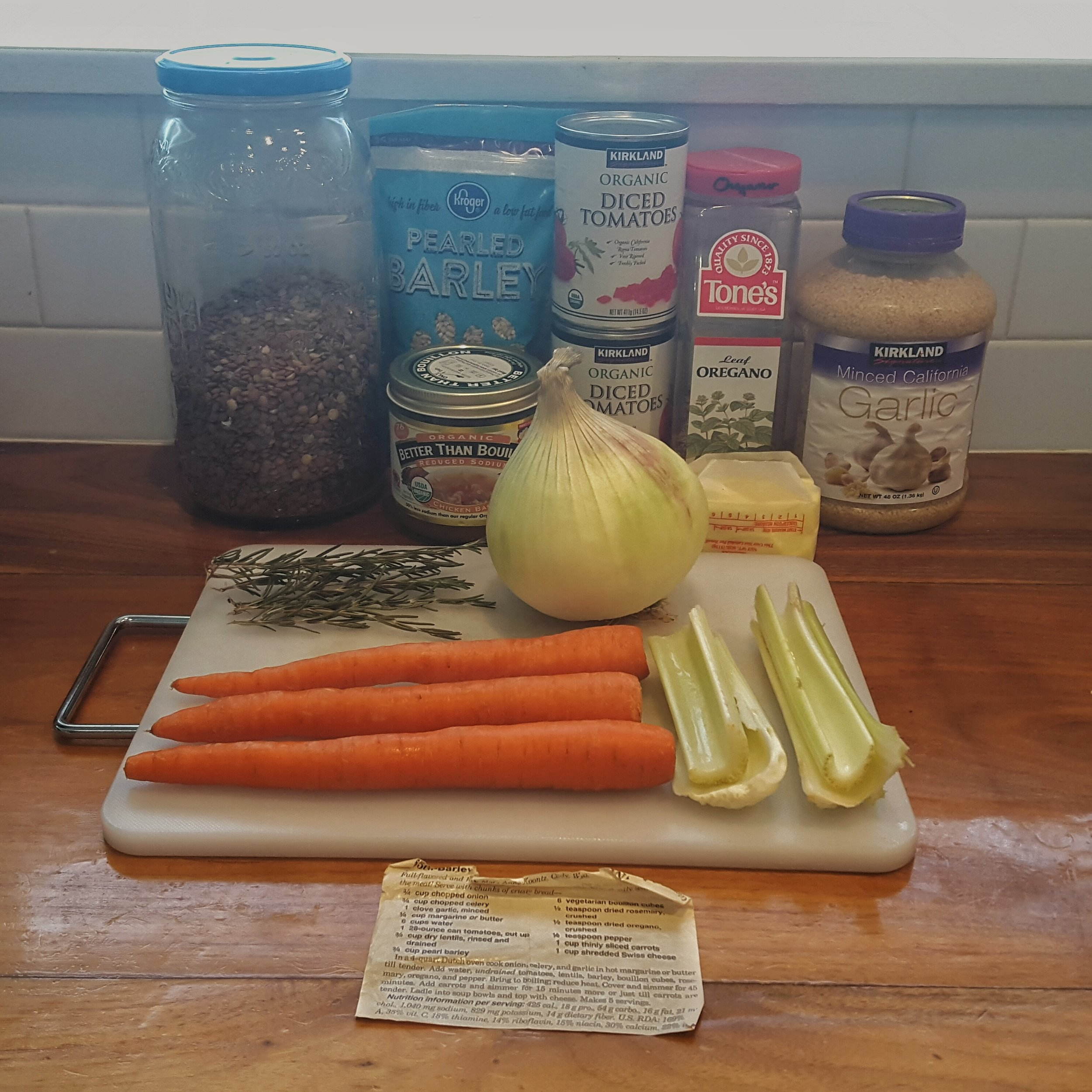 Northwest Pearls: Lentil-Barley Soup Ingredients