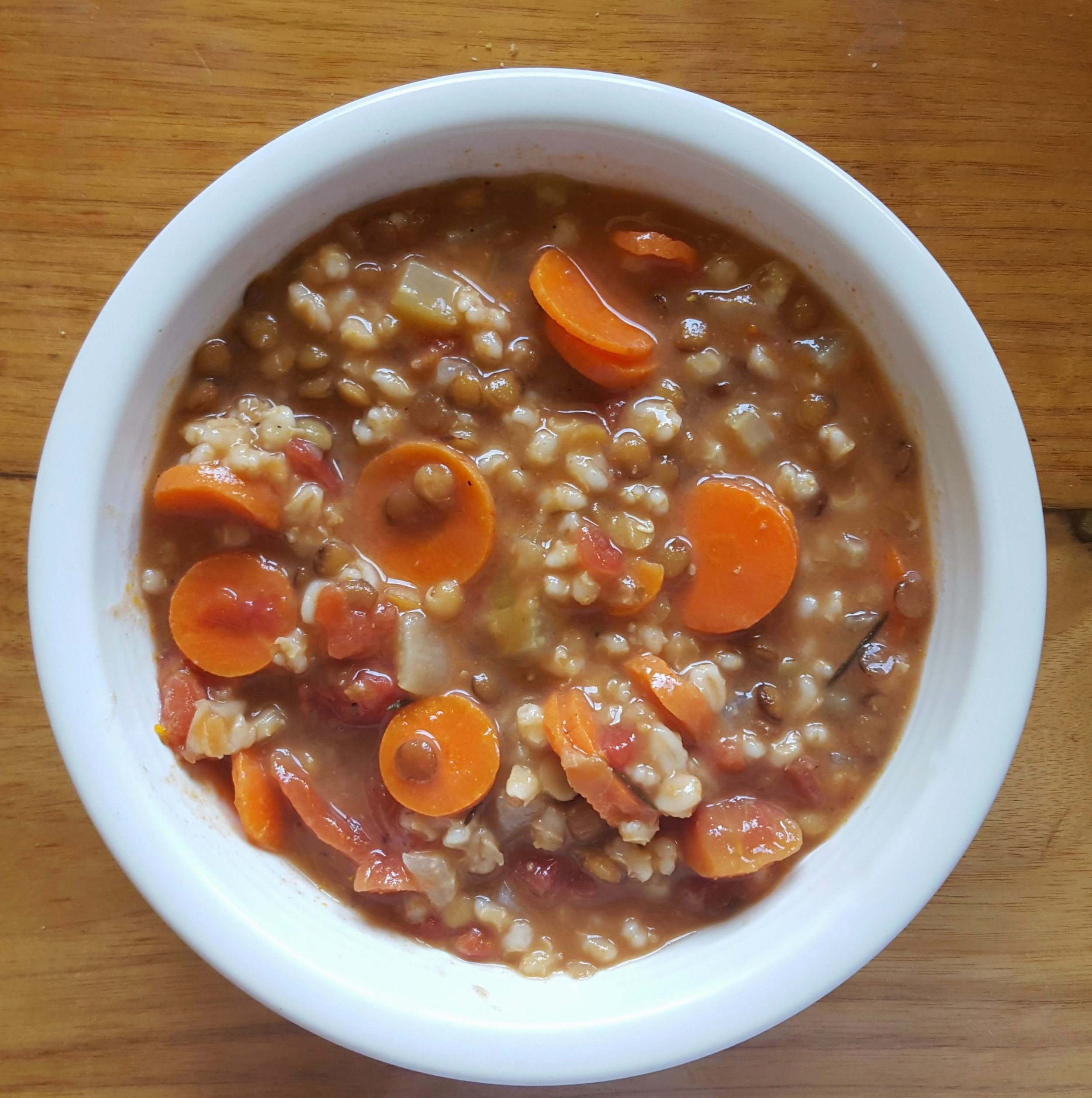 Northwest Pearls: Lentil-Barley Soup