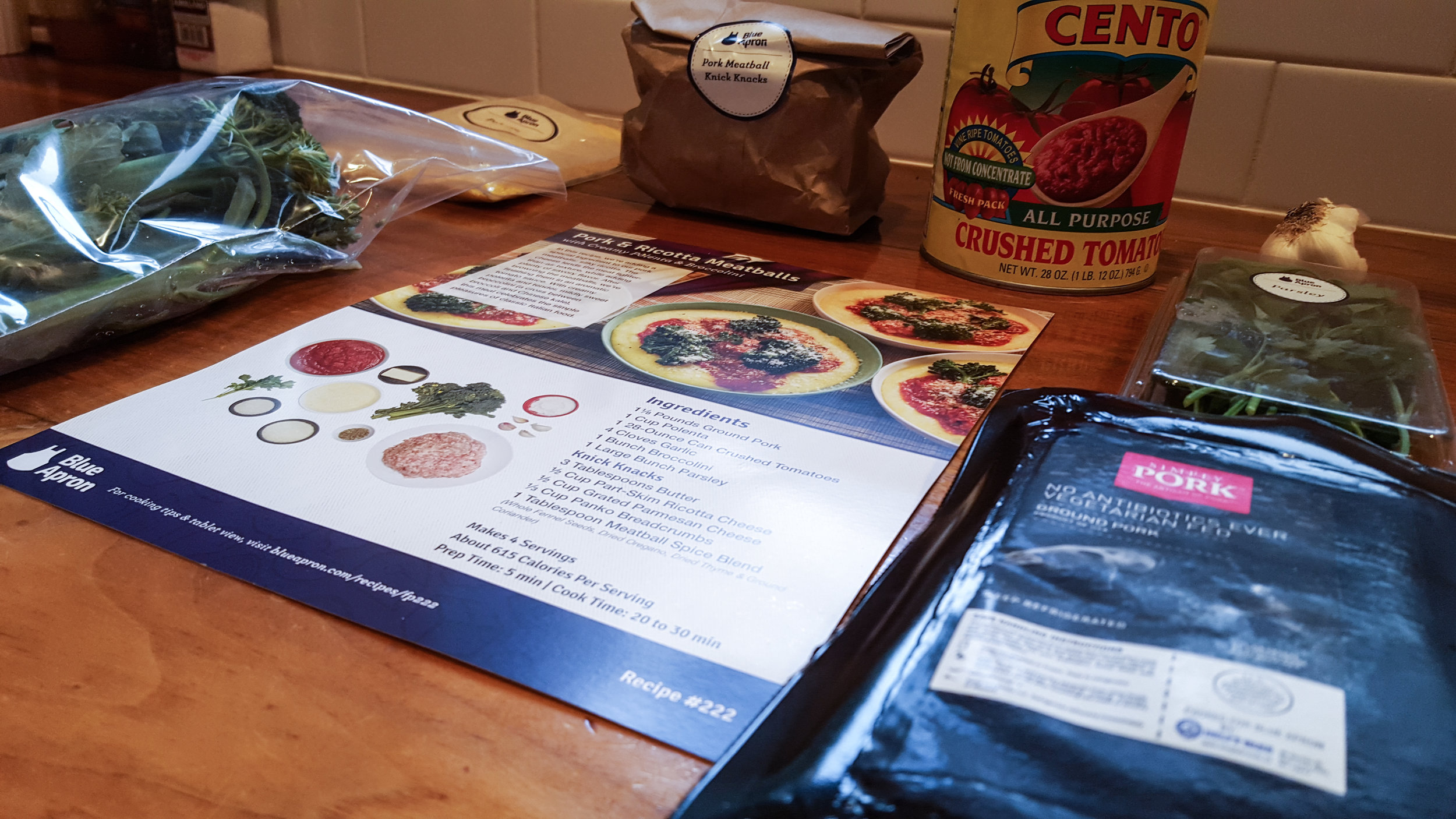Northwest Pearls: Blue Apron Meatballs