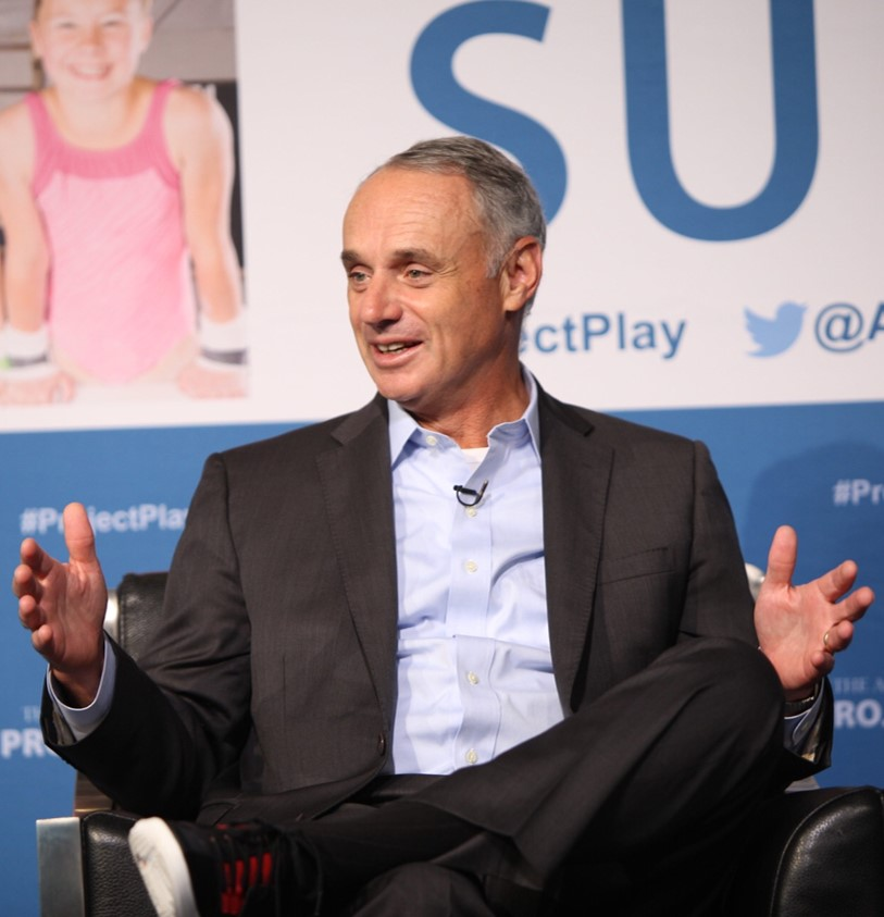 Among the 20 members of Project Play 2020 is Major League Baseball, whose commissioner, Rob Manfred, spoke at the 2017 Project Play Summit about efforts to introduce kids to the sport in more casual forms.