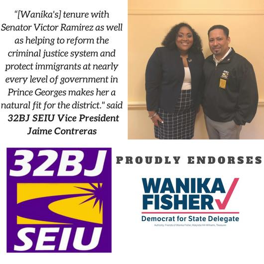 - http://www.seiu32bj.org/press-releases/endorses-wanika-fisher-maryland-state-delegate-prince-georges-county/