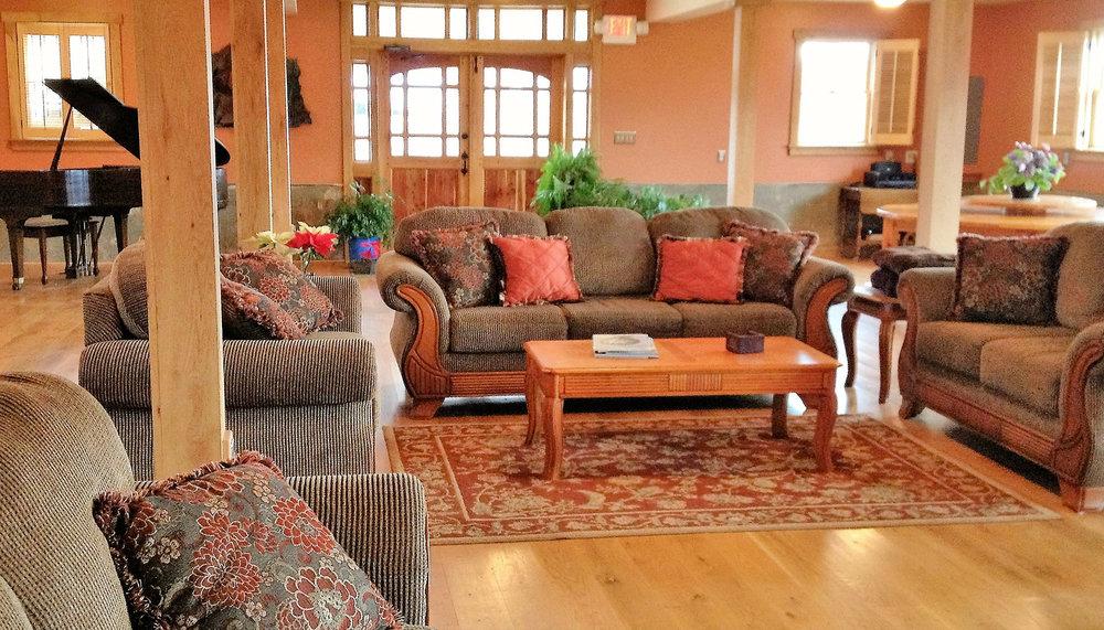 The Rustic Oak Room of the Heartstone Lodge