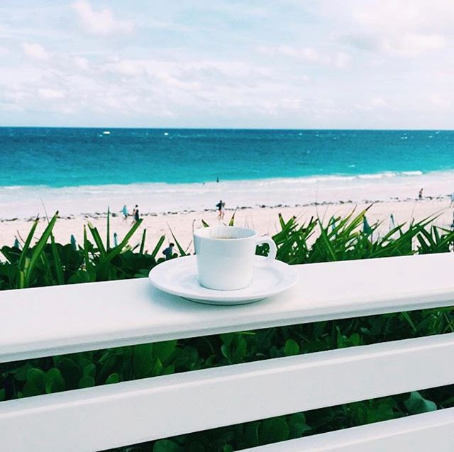 T Minus 8 Sunday's until this is my morning coffee view! #pleasebefebruaryalready #bermudabahamacomeonprettymama