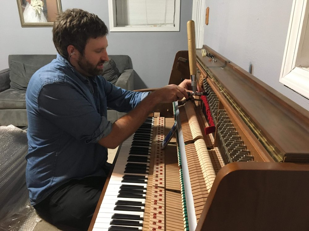 Piano tuning flooded during Harvey