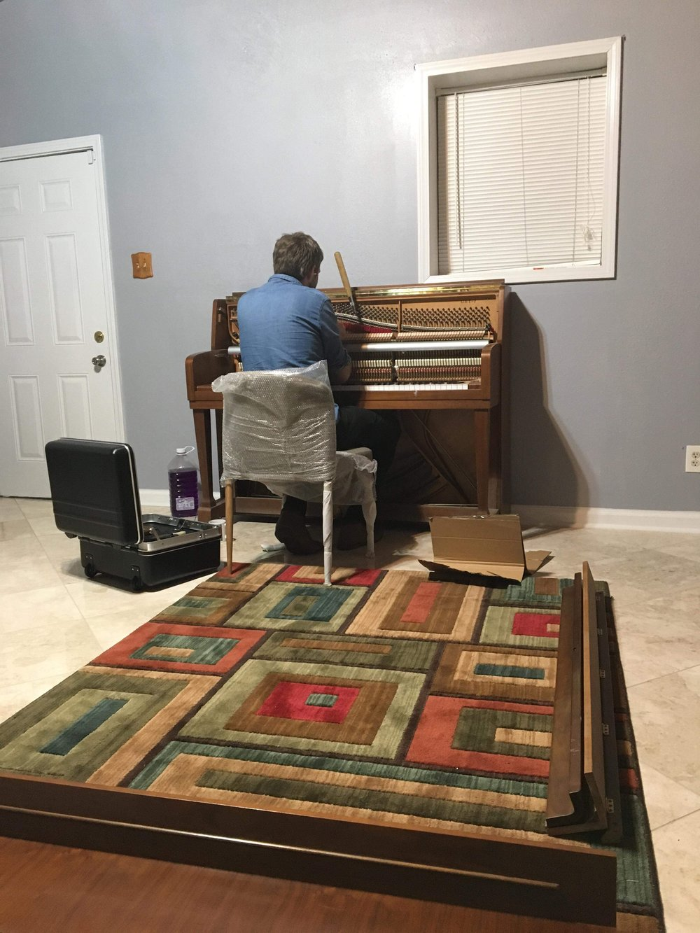 Harvey flood piano - A gift from a friend