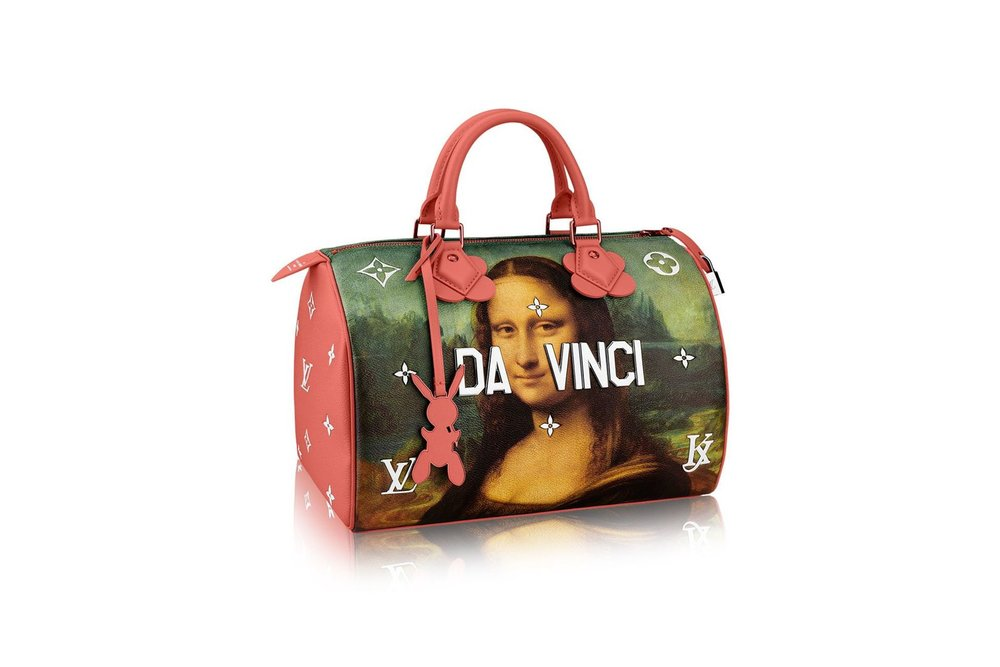 Jeff Koons collaboration with Louis Vuitton, Mona Lisa (by Leonardo da Vinci) bag series