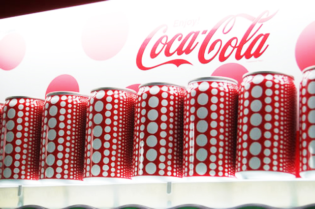 Yayoi Kusama collaboration with Coca Cola
