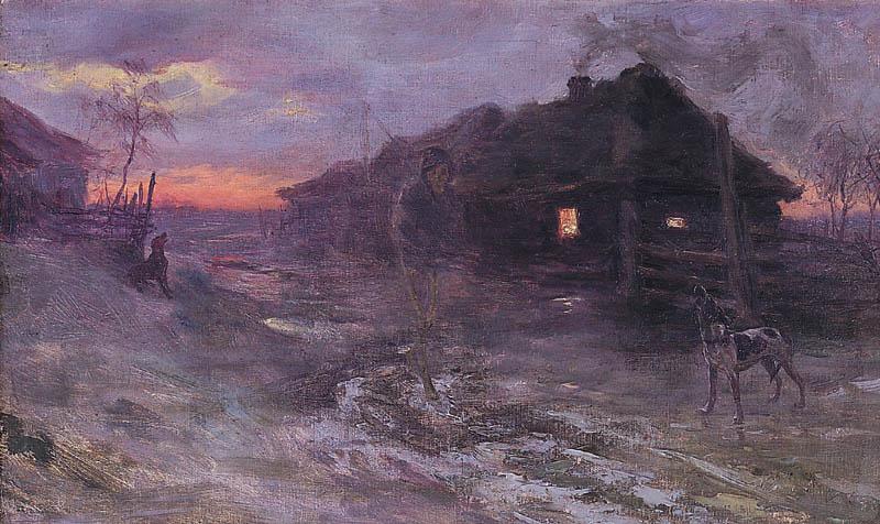 Henryk Weyssenhoff (1859-1922),  Premonition , 1893.