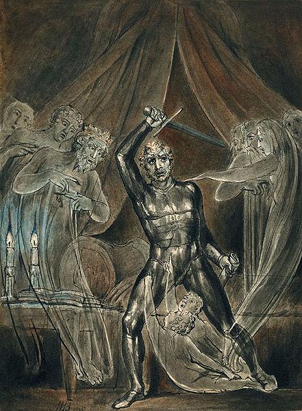 William Blake,  Richard III and the Ghosts,  1806.