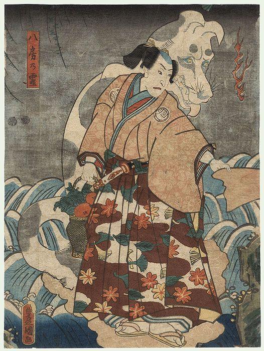 Ghost of a Dog , 1852 by Toyokuni III/Kunisada (1786 - 1864)