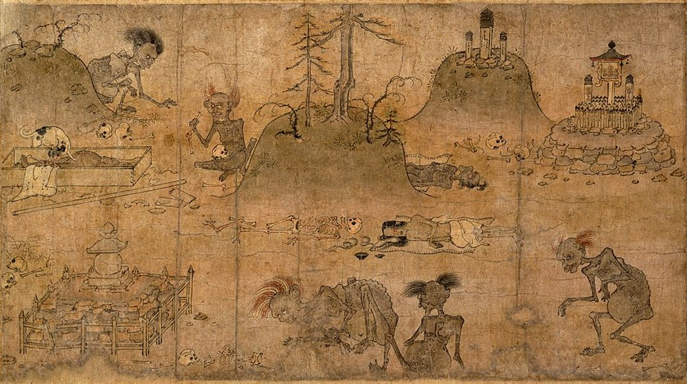 detail from the  Hungry Ghost scroll , late 12th century