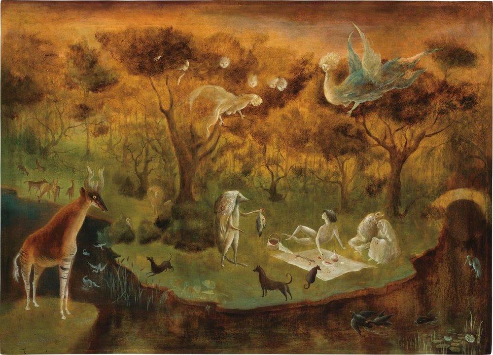 Leonora Carrington -  Pastoral  - 1950 - oil on canvas