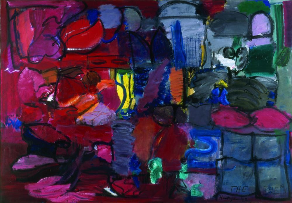 Grace Hartigan -  The-The #1  - 1962 - oil on canvas