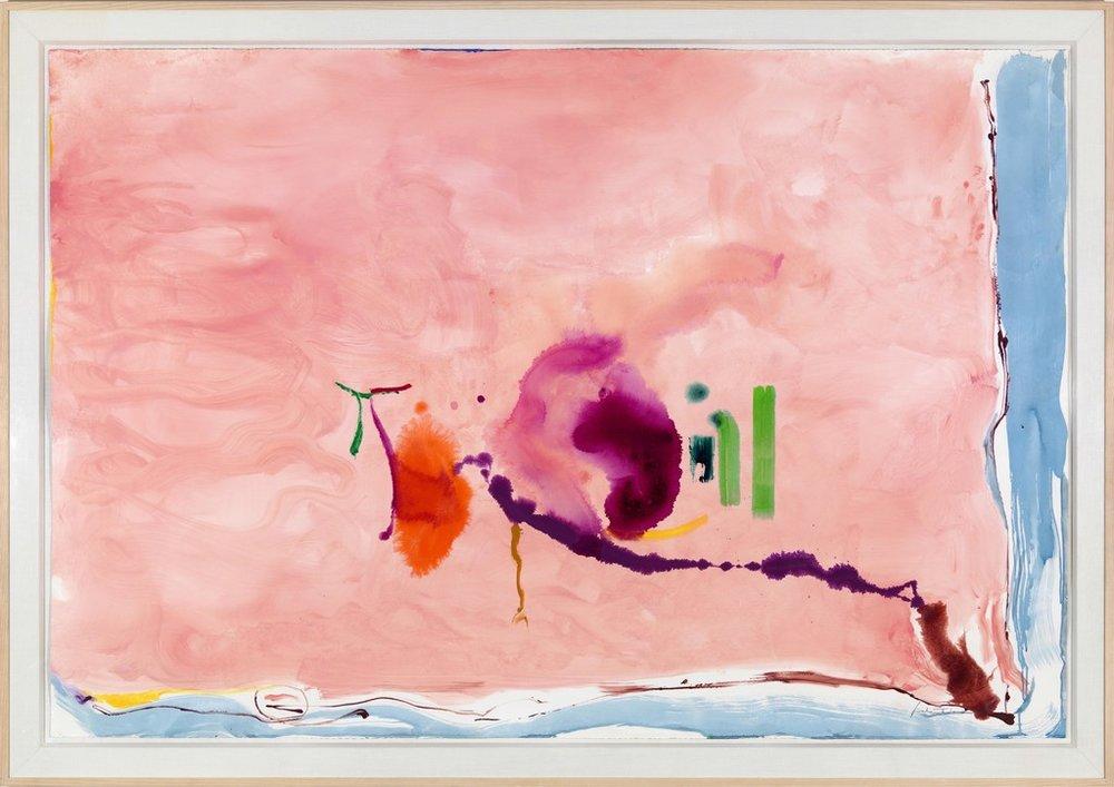 Helen Frankenthaler - Flirt - 1995 - acrylic on paper