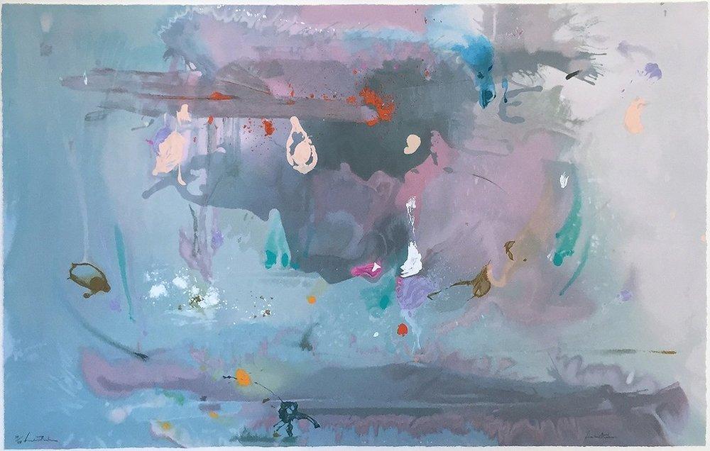 Helen Frankenthaler - Grey Fireworks - 2000