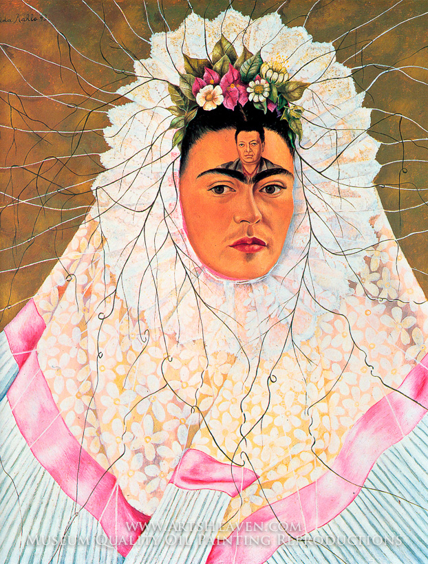Frida Kahlo -  Diego in My Thoughts  - 1943