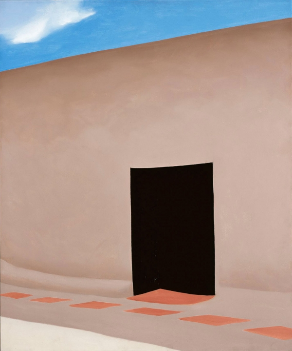 Georgia O'Keeffe -  Patio with Cloud  - oil on canvas