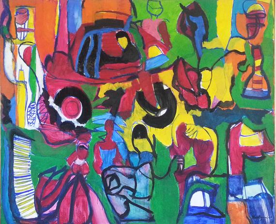 Grace Hartigan - Reisterstown Mall - 1955 - oil on canvas